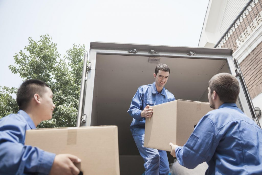 Access Gentle movers loading a moving truck
